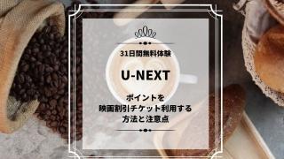 U-NEXT 映画割引チケット利用方法、注意点