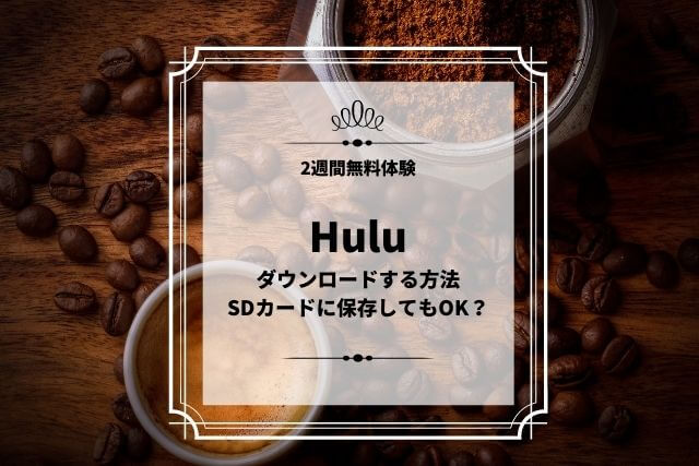 Hulu ダウンロードする方法 SDカードに保存してもOK?