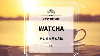 WATCHA テレビで見る方法